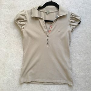 Burberry Beige Polo Shirt Size S